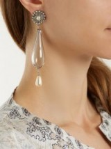 ETRO Faux-pearl and crystal embellished drop earrings