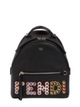 FENDI MINI STUDDED LEATHER BACKPACK / designer logo backpacks