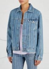 FILLES À PAPA Bailey embellished denim jacket ~ crystal-striped jackets