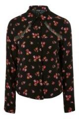 TOPSHOP Floral Fringe Shirt. FRINGED WESTERN SHIRTS