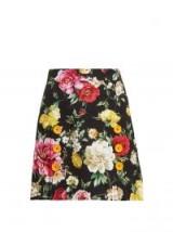 DOLCE & GABBANA Floral-print mini skirt ~ beautiful flower a-line skirts