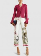 F.R.S FOR RESTLESS SLEEPERS‎ Etere Printed Silk Cropped Trousers ~ tiger print crop leg pants