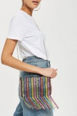 topshop Future Beaded Cross Body Bag. RAINBOW CHAIN STRAP BAGS