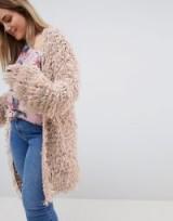 Glamorous Curve Oversized Cardigan In Shaggy Knit | stylish plus size cardigans