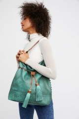 Gramercy Washed Hobo. LARGE SLOUCHY TASSELED SHOULDER BAGS