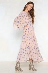 Nasty Gal Hang Back Floral Dress – pink boho dresses
