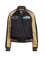 POLO RALPH LAUREN Hawaii Satin Bomber Jacket ~ casual colour block jackets