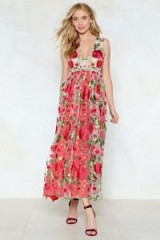 NASTY GAL Heart and Soul Floral Dress ~ plunging party dresses