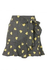Topshop Heart Ruffle Tie Mini Skirt   flippy mini skirts