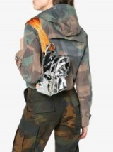Heron Preston Mirrored Cotton Backpack ~ small metallic backpacks