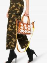 Heron Preston X Off-White Collaboration Mini PVC Tote Bag ~ clear plastic handbags