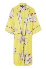 Topshop Heron Print Kimono | floral and bird printed kimonos | oriental style jackets