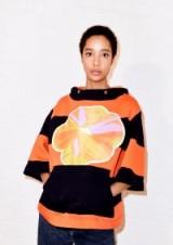 HOUSE OF HOLLAND IRVIN STRIPE HOODED SWEAT | bold print hoodies | colourful sweatshirts