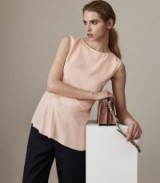 REISS ISLIA LADDER-TRIM TOP APRICOT BLUSH ~ luxe silky tops