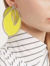 JACQUEMUS Le Citron lemon and spiral earrings ~ fruit statement jewellery
