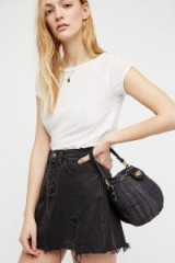 FREE PEOPLE Le Sable Straw Bag. SMALL BLACK BAGS