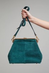 Neuville Leah Suede Mini Bag | green vintage style handbags