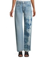 Levi's Made & Crafted Arrow Split-Seam Straight-Leg Jeans ~ shibori dyed panel denim
