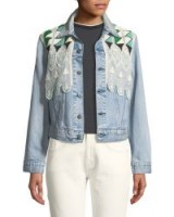Levi's Made & Crafted Boyfriend Trucker Denim Jacket w/ Embroidery ~ lace and bead embellished jackets