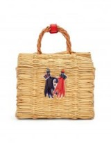 HEIMAT ATLANTICA Liebe Biman porcelain-embellished box bag. SMALL WOVEN TOP HANDLE BAGS