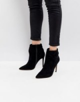 Lipsy Bow Detail Pointed Ankle Boot ~ black pointy toe boots