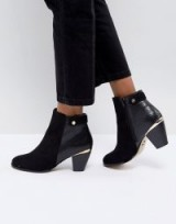 Lipsy Stud Detail Boot – black ankle boots
