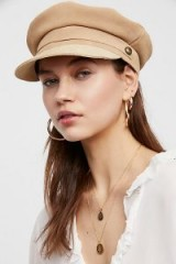 Lack of Color Lola Suede Lieutenant. NUDE TONE HATS