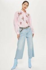 Topshop Love Me Grace Shirt | pink floral shirts