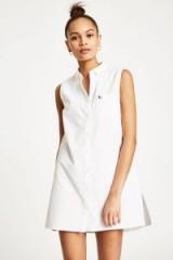 JACK WILLS LUELLA SLEEVELESS SHIRT DRESS – white dresses for spring
