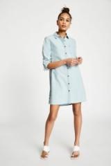 JACK WILLS MAGGIE DENIM SHIRT DRESS – pale blue dresses