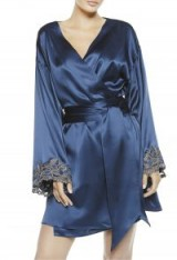 LA PERLA MAISON Robe – blue silk robes – luxe nightwear