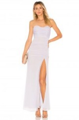 MAJORELLE IRIDESSA DRESS – lilac strapless dresses – party pastels