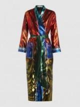MARY KATRANTZOU Merlin Embellished Satin-Jacquard Robe ~ luxe metallic robes ~ statement coats