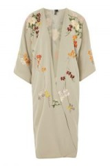 Topshop Mint Embroidered Kimono | light-green kimonos | lightweight spring jackets