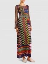 MISSONI Metallic Crochet-Knit Maxi Dress ~ long multicoloured dresses