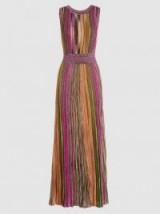 MISSONI Sleeveless Metallic Crochet-Knit Maxi Dress ~ long luxe evening dresses