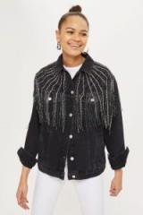 MOTO Dazzle Fringe Jacket. BLACK FRINGED JACKETS
