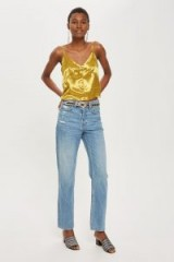 MOTO Mid Blue New Boyfriend Jeans ~ stonewashed denim