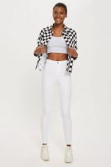 MOTO White Holding Power Joni Jeans | denim skinnies