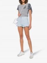 MSGM Denim Shorts With Frill ~ cute ruffle trim