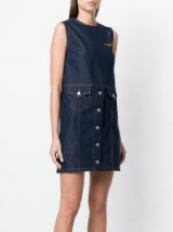 MSGM sleeveless denim shift dress ~ dark=blue casual dresses