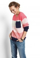 hush Multi Colourblock Jumper ~ pink and blue jumpers