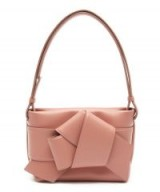 ACNE STUDIOS Musubi Bow Front Pink Leather Handbag