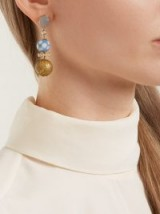FRANCESCA VILLA My Generation diamond, yellow-gold drop earrings