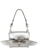 NIELS PEERAER SMALL WINGS LEATHER SHOULDER BAG / metallic silver bags