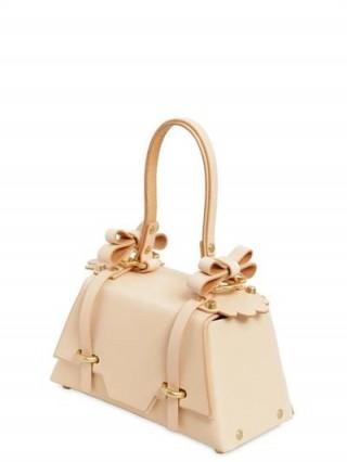 NIELS PEERAER WINGED SISTER LEATHER TOP HANDLE BAG / nude box bags / luxe handbags