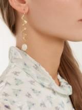 ORIT ELHANATI Nude Neptune yellow-gold single earring ~ opal drop earrings