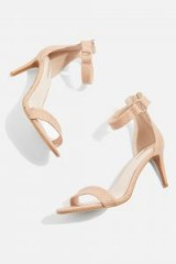 TOPSHOP Nude Ring Heeled Sandals
