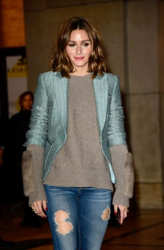 Olivia Palermo at the Armani Prive Show during Paris Fashion Week, January 2018