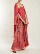 ETRO Pink Paisley-print embellished silk-georgette gown